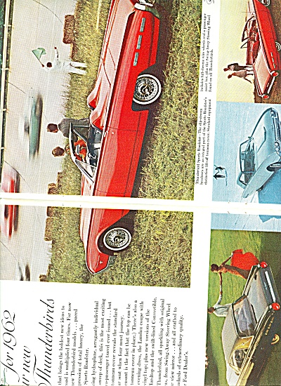 Ford Thunderbird For 1962 Ad
