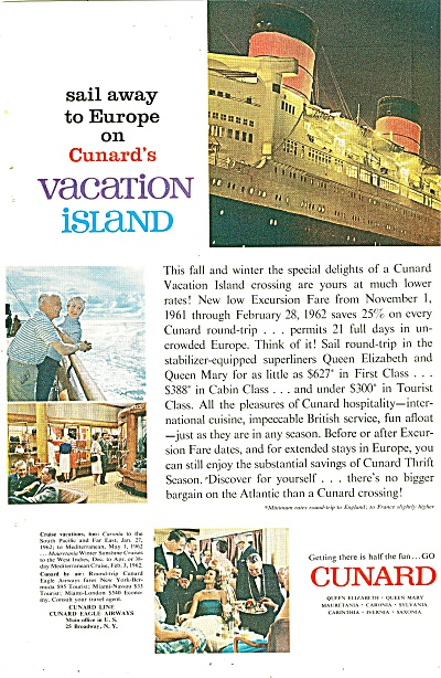 Cunard lines ad 1961 (Image1)