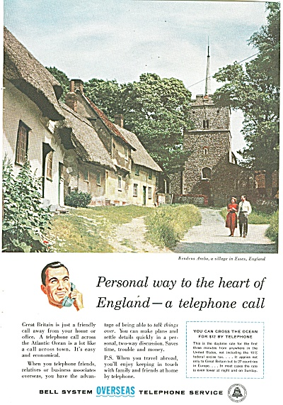 1957 Bell System Overseas telephone AD ENGLAND ESSEX (Image1)
