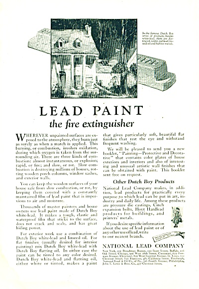 National Lead company ad - 1925 (Image1)