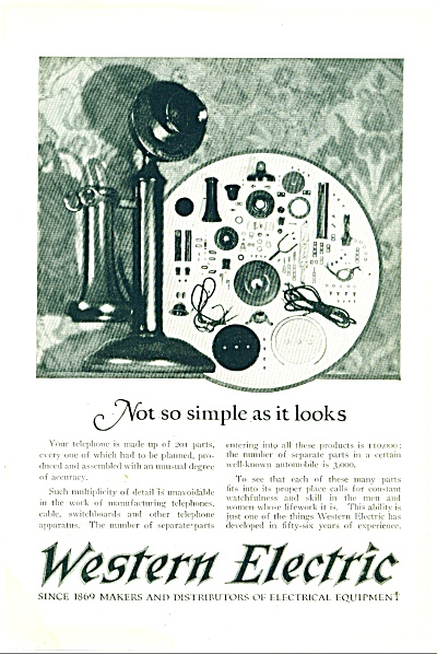 Western Electric Company Ad 1925