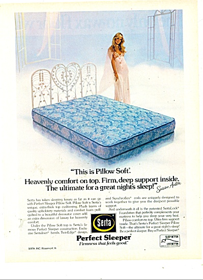 Serta Perfect Sleeper Mattress 1980 Ad Susan Anton