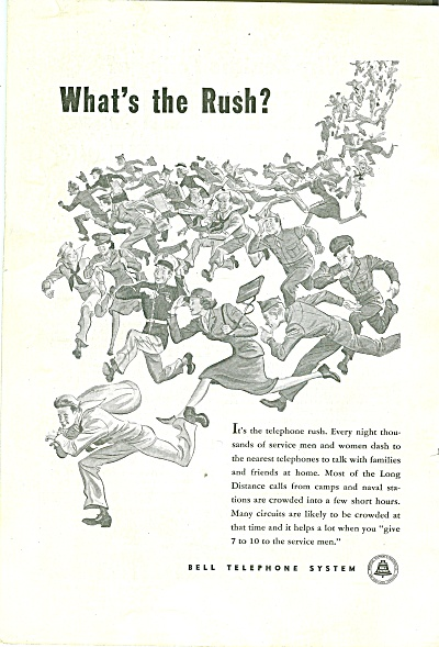 Bell Telephone system-mid 40s ad (Image1)