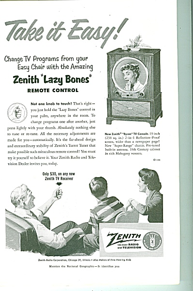 Zenith television ad 1951 (Image1)