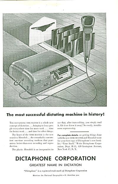Dictaphone Corporation Ad 1951