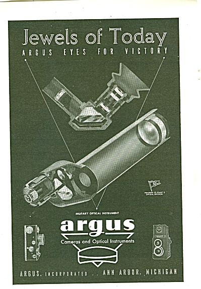 Argus cameras and optical instruments ad 1944 (Image1)