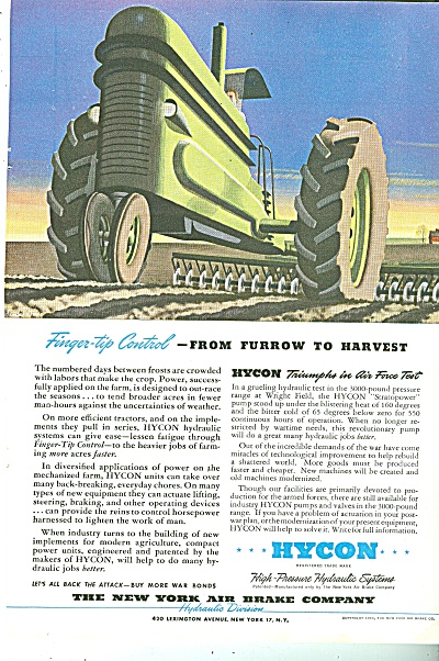 The New York Air Brake Company Ad 1944