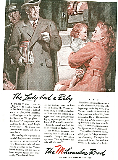 The Milwaukee Road Ad 1944