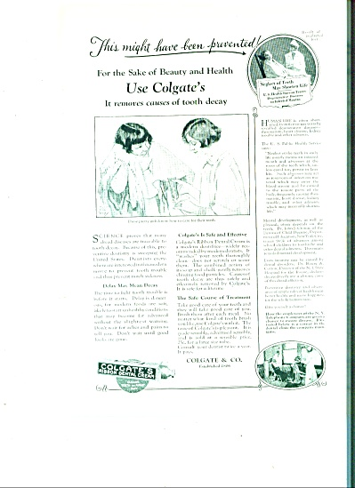 Colgates  dental cream ad 1925 (Image1)