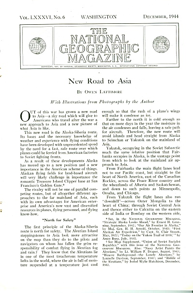 New Road to ASIA  story 1944 (Image1)