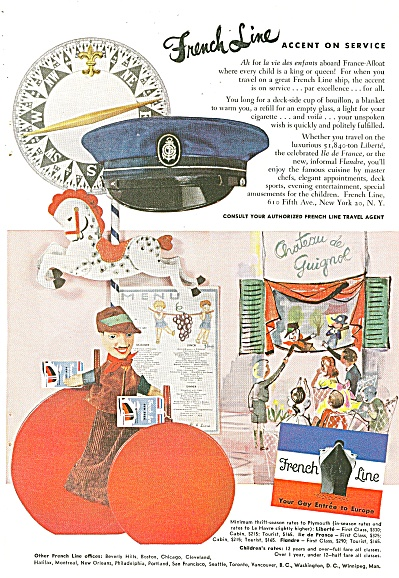 French Line ad 1953 (Image1)