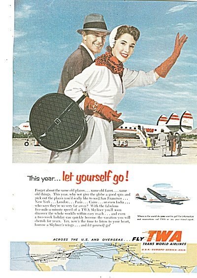 Twa Airlines Ad 1953