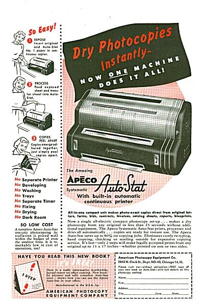 Apeco Auto Stat ad 1953 (Image1)