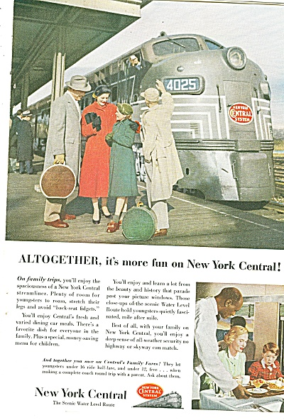 New York Central railroad ad 1953 (Image1)