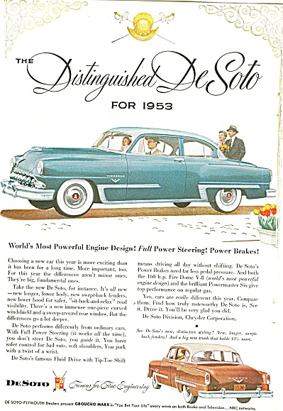Desoto Automobile For 1953 Ad Full Power
