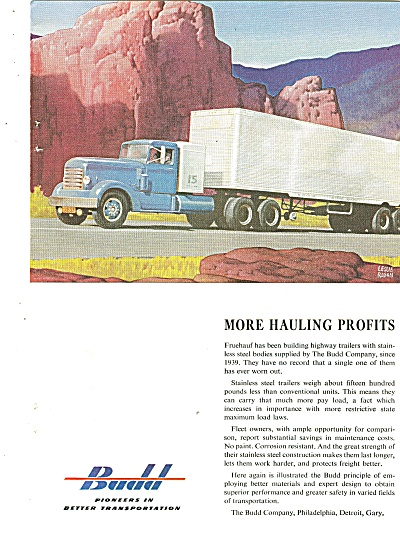 Budd Corporation Ad 1953