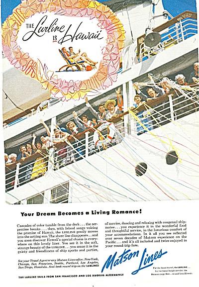 Matson Lanes ad 1953 (Image1)