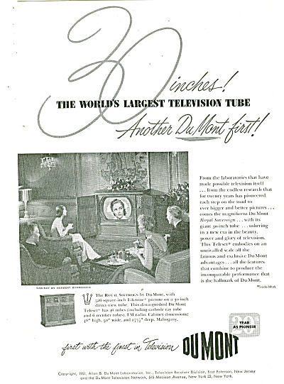 Dumont television ad 1951 (Image1)