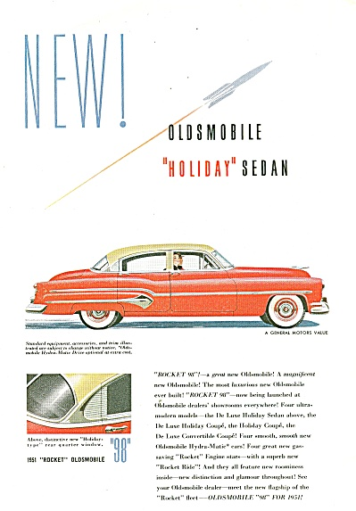 Oldsmobile  Holiday Sedan ad 1951 (Image1)