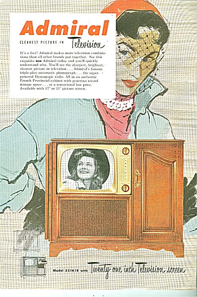 Admiral Television Ad 1951