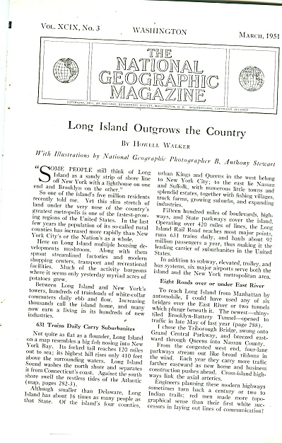 Long Island Outgrows The Country Story 1951