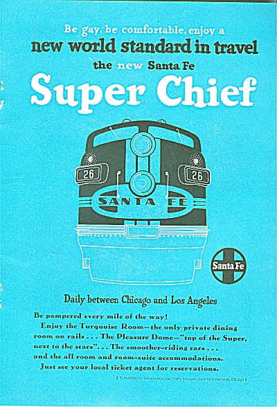 Santa Fe Super chief ad -1951 (Image1)