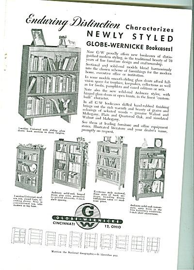 Globe Wernicke bookcases ad 1951 (Image1)