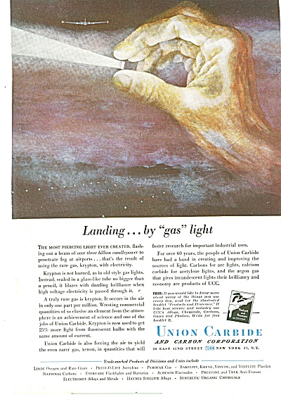 Union Carbide and carbon corporation ad 1951 (Image1)