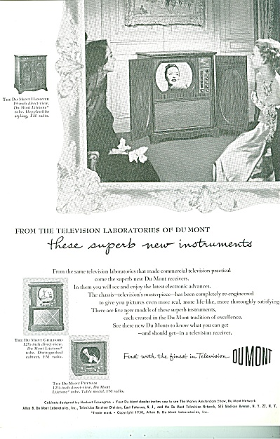DuMont television ad 1950 (Image1)