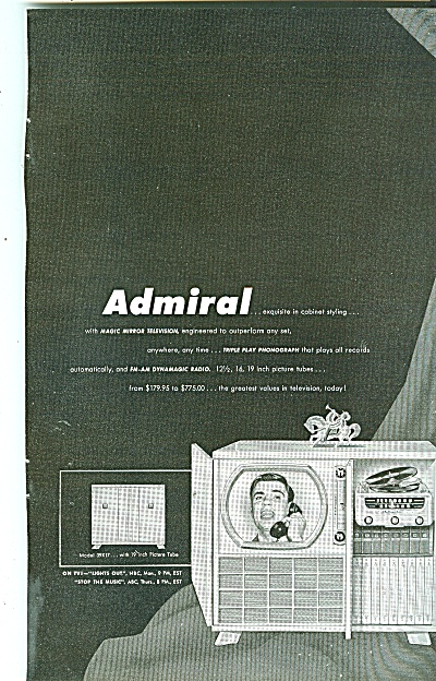 Admiral Television Ad - Bert Parks 1950