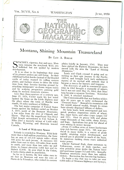Montana, Shining Mountain Treasureland -1950