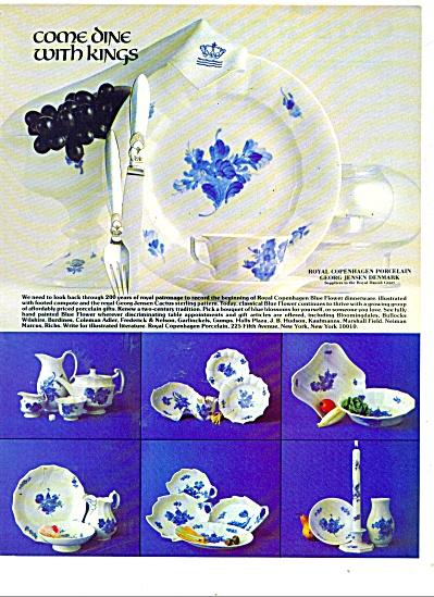 ROYAL COPENHAGEN PORCELAIN  ad - 1980 (Image1)