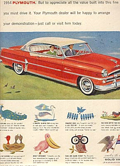 1954 Plymouth Belvedere Car AD Animals (Image1)