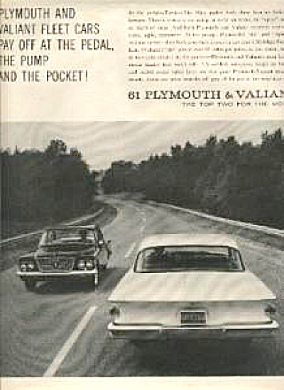1960 Plymouth & Valiant Vintage Car AD (Image1)