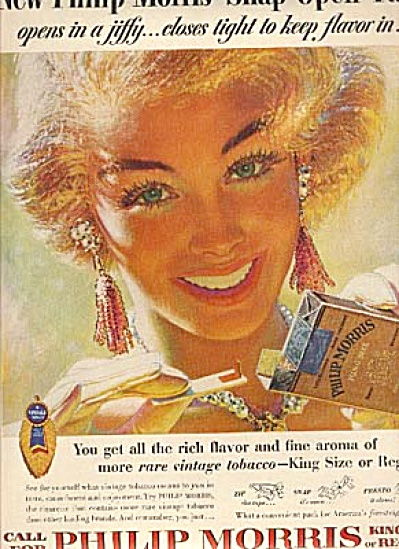 1954 Glamour Girls Philip Morris GEORGI ART (Image1)