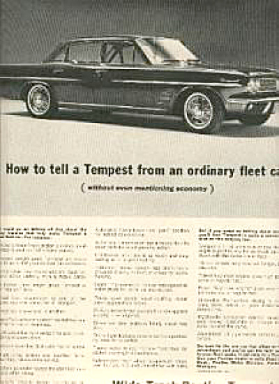 1963 Pontiac Tempest TRADE Car AD (Image1)