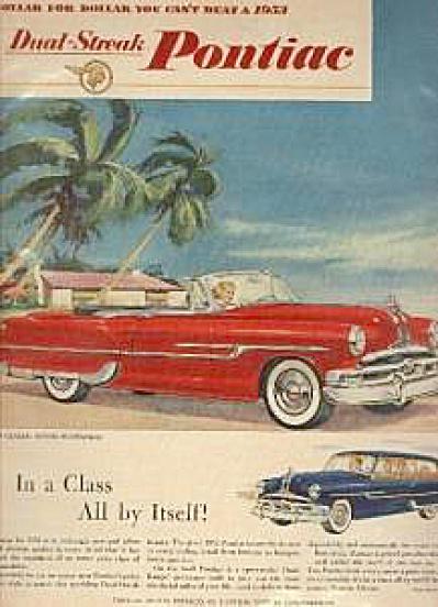1953 Pontiac Dual-Streak Car AD (Image1)