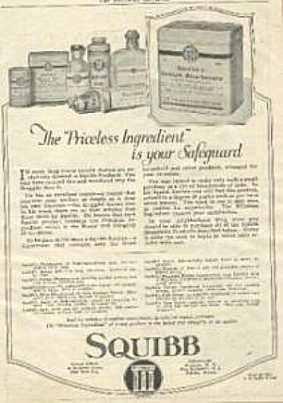 1922 E. R. Squibb Medicines AD Original (Image1)