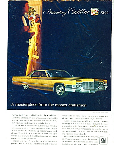 1968 Cadillac CAR AD for 1969 Lady in Yellow (Image1)