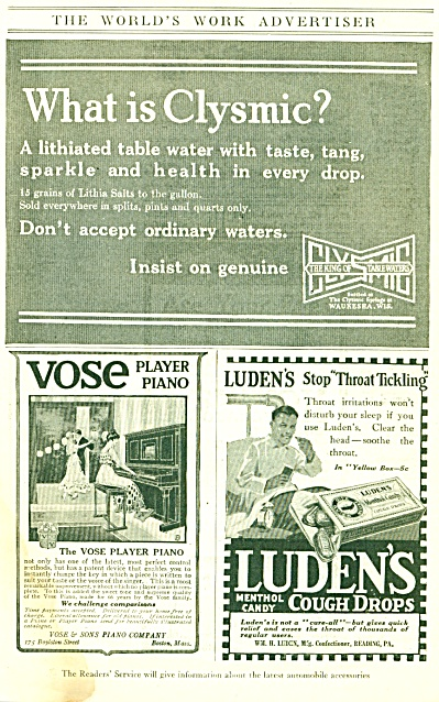 1917 The World's Work Advertiser Clysmic (Image1)