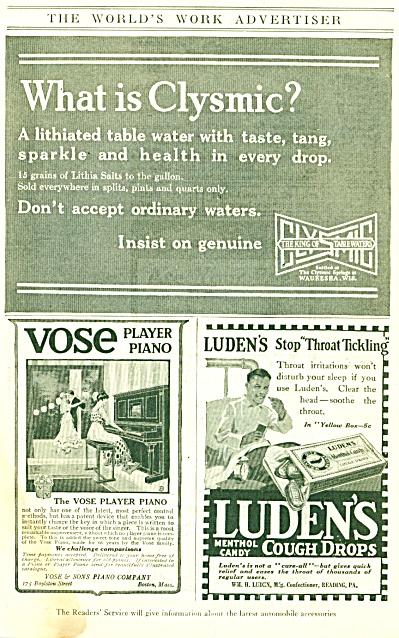 1917 The World's Work Advertiser Clysmic (Image1)