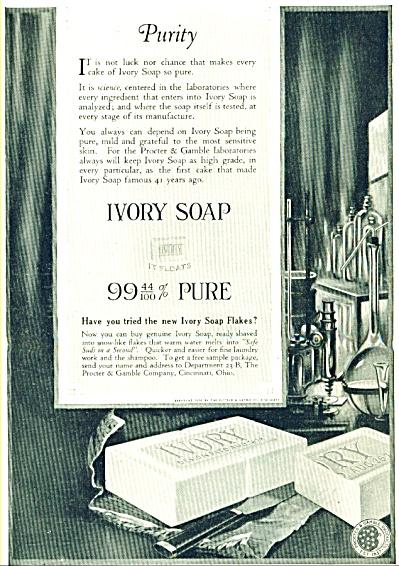 1918 Ivory Soap Ad Proctor Gamble CAKE (Image1)