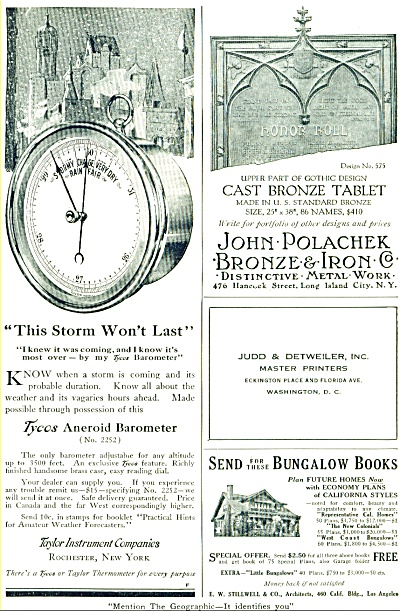 1916 Taylor Instrument Co. Ad Barometer ++
