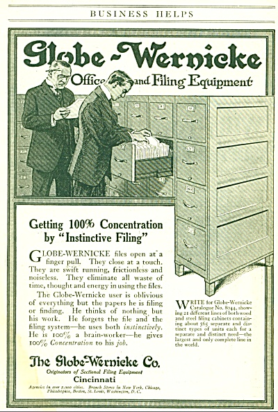 1917 The Globe Wernicke Co. OFFICE EQUIP AD (Image1)