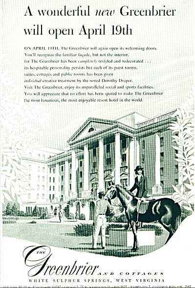1948 Greenbrier and Cottages Ad West Virginia (Image1)