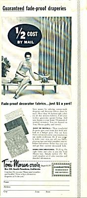 Toni Moran Studio - draperies - ad 1957 (Image1)