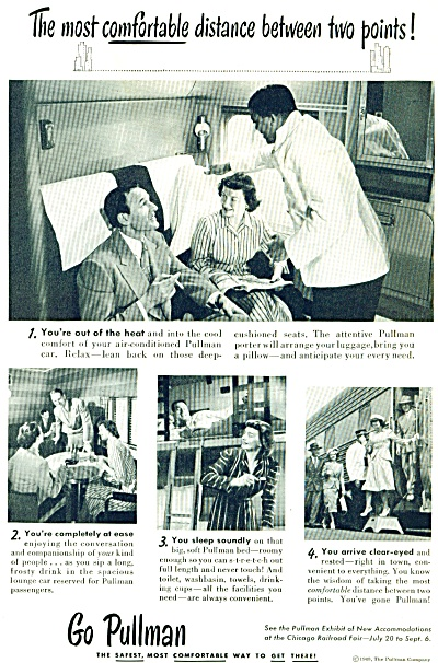 1948 Go Pullman RAILROAD TRAIN CHICAGO Ad (Image1)