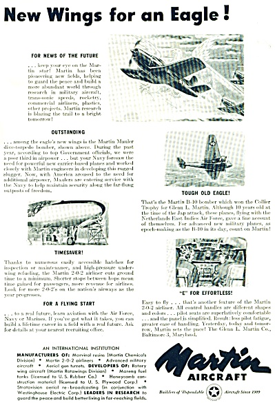 1948 Martin Aircraft  AIRPLANE PLANE BUILDAd (Image1)