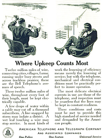 1920 AT&T American Telephone & Telegraph Ad (Image1)