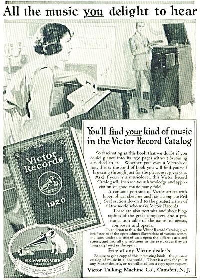 1920 Victor Talking Machine Co AD Vintage (Image1)